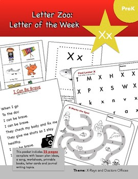Letter Xx (X is for X-Ray): Letter Zoo- Preschool Curriculum