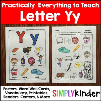 Letter Y | Alphabet Printables and Centers