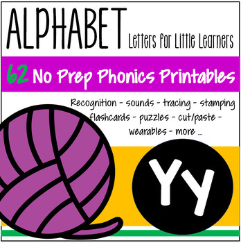 Alphabet Y Letter of the Week Phonics Recognition, Sound, Tracing & Craftivities