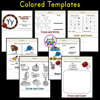 Letter Y Alphabet Flip Book (Alphabet Interactive Notebook Activities)