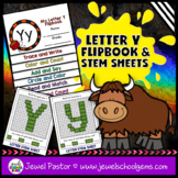 Letter Y Alphabet Flip Book (Alphabet Interactive Notebook
