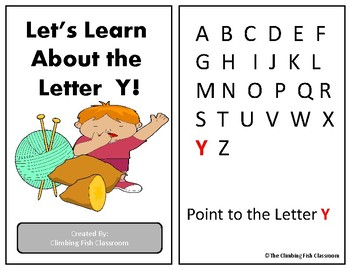Letter 'Y' Adapted Book
