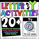 Letter Y Alphabet Activities   Recognition, Formation, and Sounds