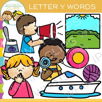 Letter Y Clip Art {Alphabet Beginning Sounds Clip Art}