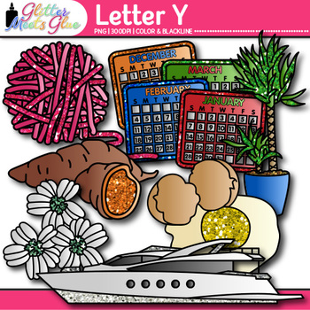 Letter Y Alphabet Clip Art {Teach Phonics, Recognition, an