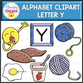 Letter Y Alphabet Clipart  (Beginning Sounds)