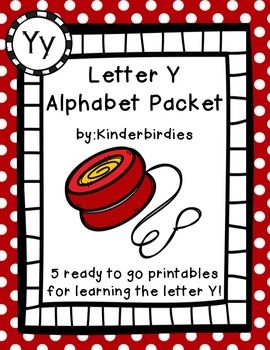 Letter Y Alphabet Packet