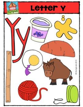 Letter Y - Alphabet Pictures {P4 Clips Trioriginals Digital Clip Art}