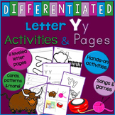 Letter Y Unit - Differentiated Letter Writing Pages & Activities