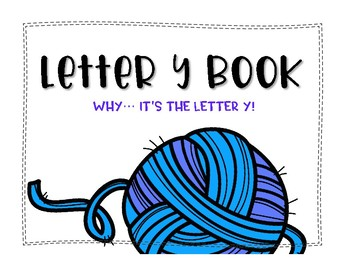 Letter Y Book: Handwriting Practice