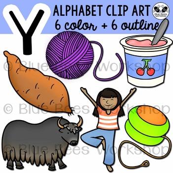 Letter Y Clip Art Alphabet / Beginning Sound Y