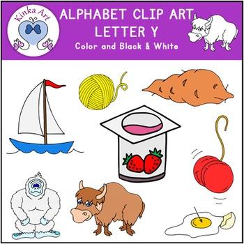 Letter Y Clip Art {Beginning Sounds} Alphabet