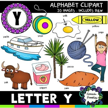 Letter Y Clipart - 20 images! For commercial and personal use!