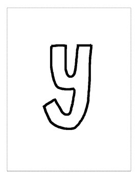 Letter Y Color and Trace AlphaBook