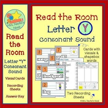Letter Y Consonant Sound Read the Room