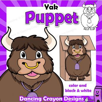 Letter Y Craft - Paper Bag Puppet Yak