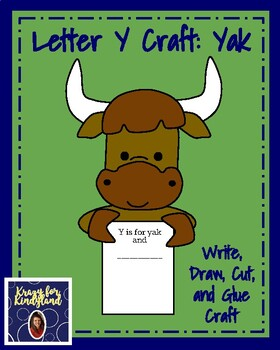 Letter Y Craft: Yak