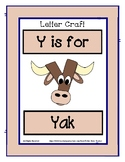 Letter Y Craftivity - Yak - Zoo Phonics Inspired - Color &