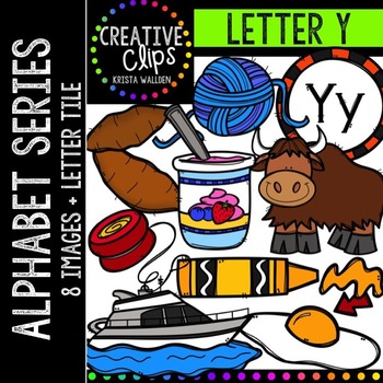 Letter Y {Creative Clips Digital Clipart}