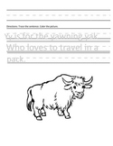 Letter Y for Yak Handwriting Practice and Questions!