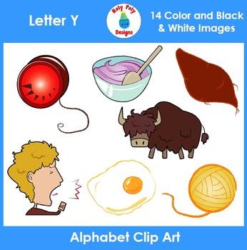 Letter Y Phonics Clip Art Set