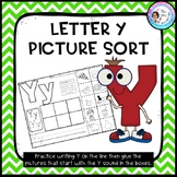 Letter Y Picture Sort - Initial Sound