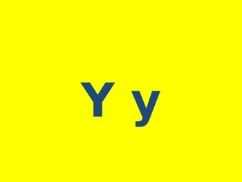 Letter Y PowerPoint