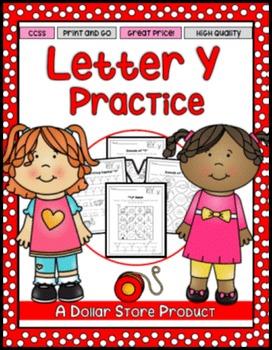 Letter Y Practice Printables