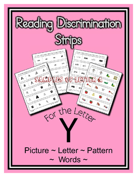 Letter Y Reading Discrimination Strips for Fluency and Recognition ( Edmark )