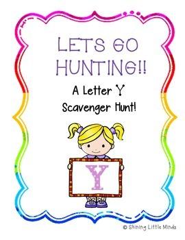 Letter Y Scavenger Hunt