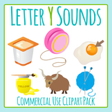 Letter Y Sounds Clip Art Pack for Commercial Uses