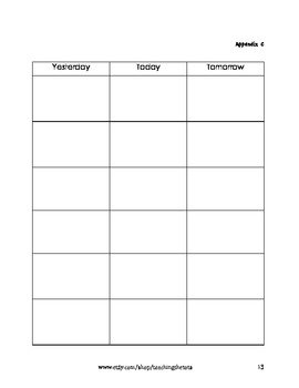Letter Y Weekly Plan