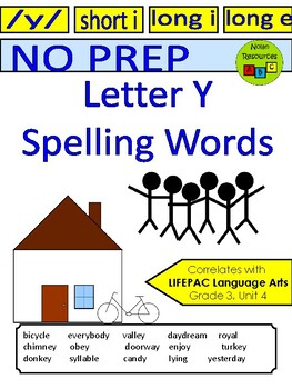 Letter Y Words - Spelling Practice