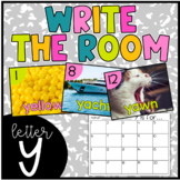 Letter Y Write the Room- Literacy Station