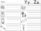 Letter Y and Letter Z Write the Room