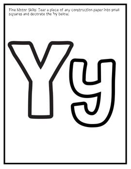 Letter Y from the Alphabet Mega Bundle/Letter of the Week