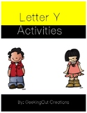 Letter Y from the Alphabet Mega Bundle/Letter of the Week