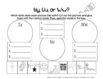 Letter Yy Activity Packet