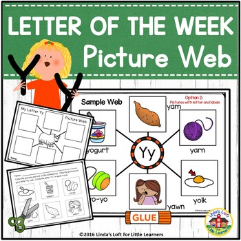 Letter Yy Letter of the Week Picture Web Activity