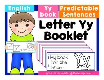 Letter Yy Booklet- Predictable Sentences