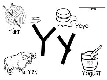"""Letter """"Yy"""" Bundle"""