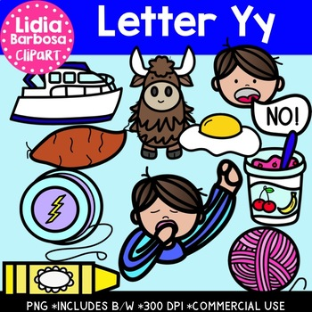 Letter Yy Digital Clipart