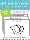 Letter Yy *Editable* Alphabet Emergent Reader