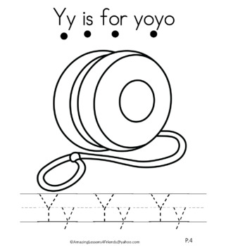 Letter Yy Journal for Toddlers