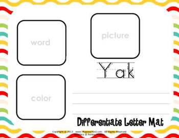 Letter Yy Language & Literacy Activity Center {COMMON CORE ALIGNED}