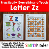 Letter Z | Alphabet Printables and Centers