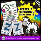 Letter Z Alphabet Flip Book (Alphabet Interactive Notebook Activities)