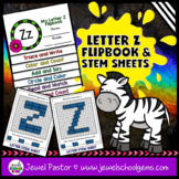 Letter Z Alphabet Flip Book (Alphabet Interactive Notebook
