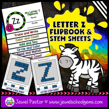 Letter Z Alphabet Interactive Notebook Activities Flipbook