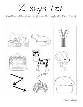 Letter Z Activities